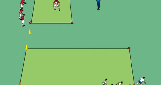 Sportunterricht Spiele: Jongleure gegen Dribbler