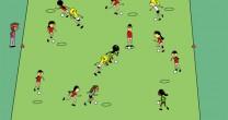 Sportunterricht: Aufwärmspiel – Rettungsinseln mit Dribbling