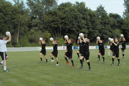 Ballkorobics beim FCR Duisburg (1. BL)