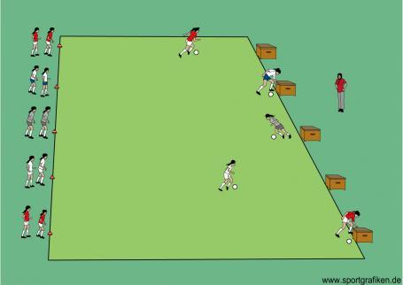 Sportunterricht Spiele: Zahlendribbling